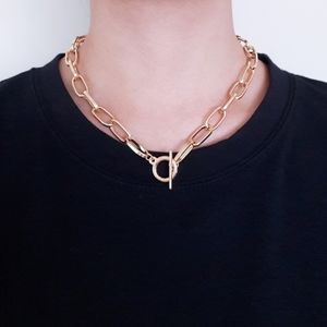 New Gold Colour Toggle Chain Necklace